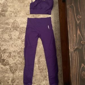 Gymshark Pants - Gymshark energy seamless purple set